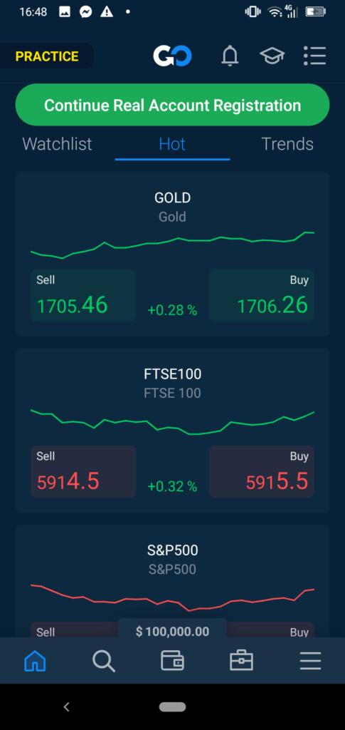 Best trading app - AvaTradeGO