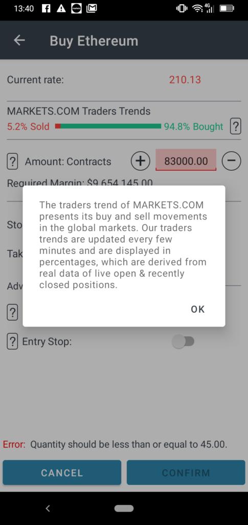 MarketsX App Screenshot